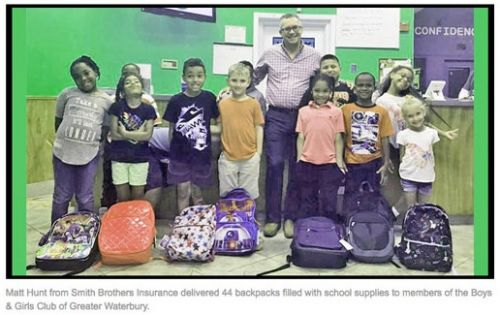 ​Smith Brothers Insurance Donates Backpacks To Help Children Start Their School Year